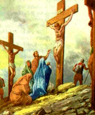 Imagen de Jesús o Jesucristo crucificado a colores