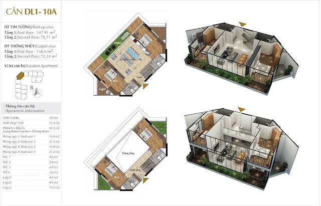 dự án Sky Villas Sunshine Crystal River Ciputra phú thượng tây hồ hà nội