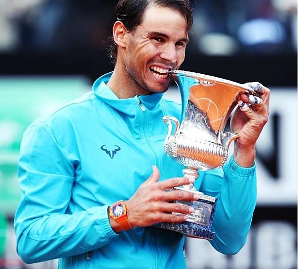 Rafael Nadal Sabet GelarJuara Italia Open