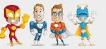 Free Download File Psd Vektor Karakter Superhero