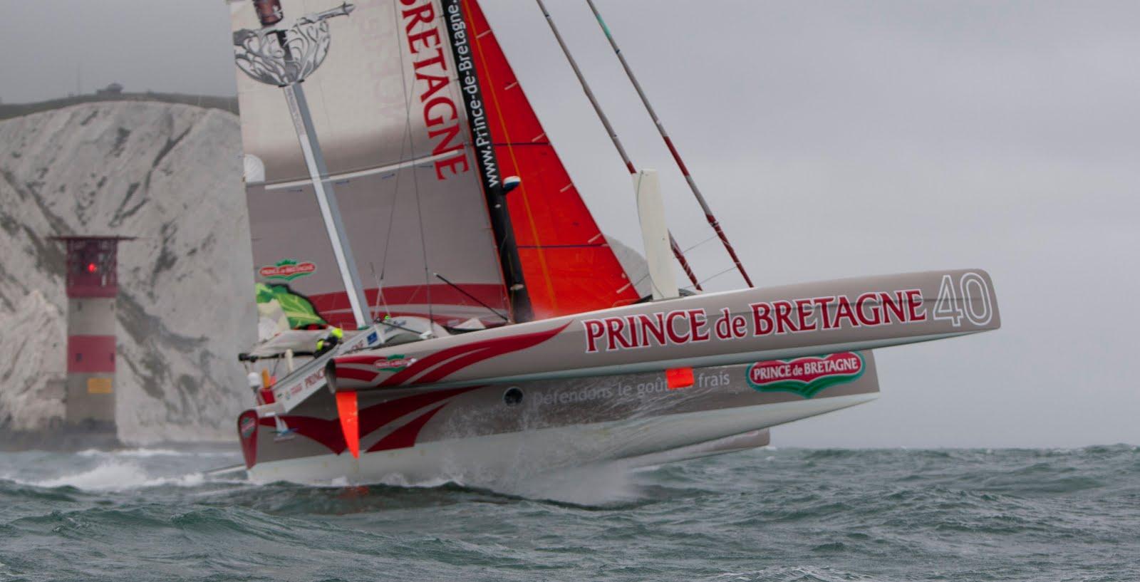 SailRaceWin: Round the Island Race : Prince de Bretagne Wins