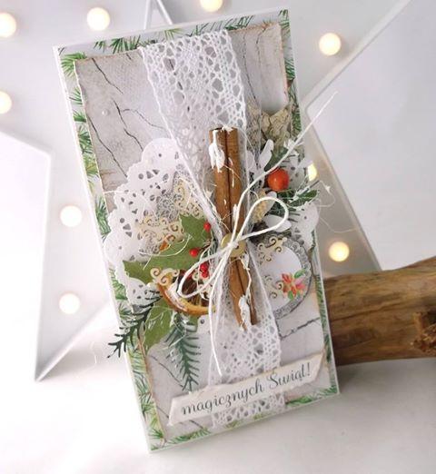 Pierwsza z cynamonem kartka świąteczna...