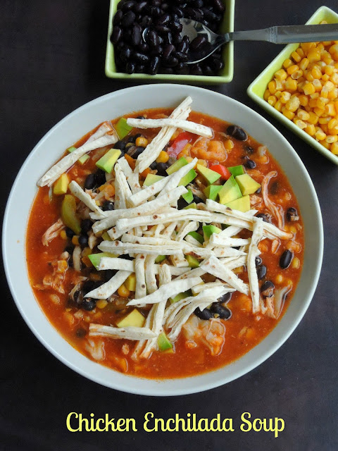 Chicken Enchilada Soup, Veg & Chicken Enchilada soup