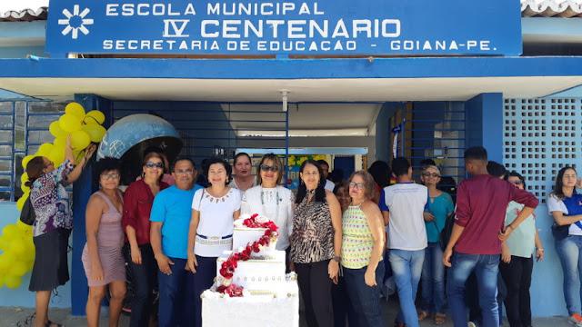 49º Aniversário da Escola IV Centenário é comemorado com desfile cívico em Goiana