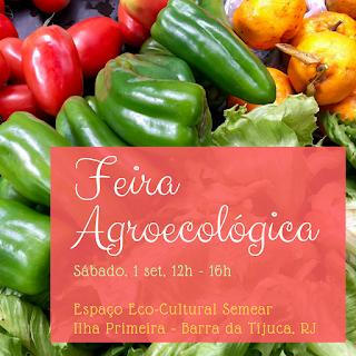 1 set, 12h às 16h: Feira Agroecológica