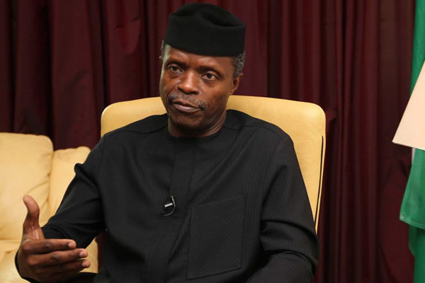 VP Yemi Osinbajo blames Niger Delta militants for recession