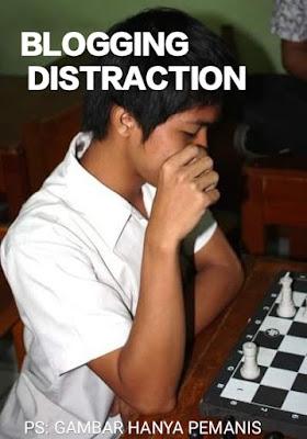 blogging distraction