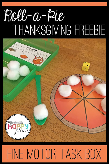 Fine Motor Thanksgiving Freebie