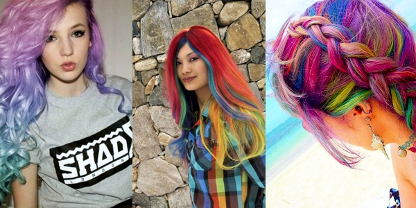 Multi Hair Color Styles: Multi-colored Hair Don't Care! Images And Video Tutorials