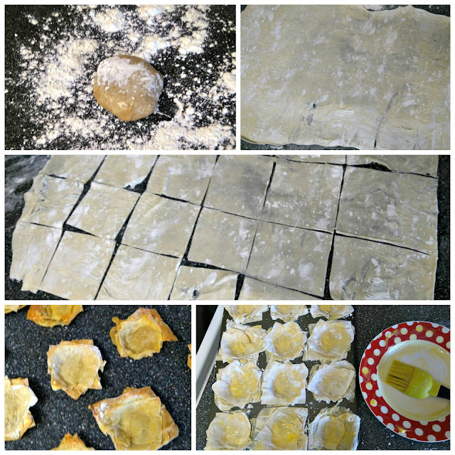 a collage of photos showing how to make filo pastry