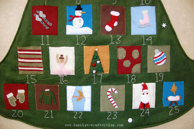 Christmas Advent Tutorial from Family Ever After! Such a fun way for kids to countdown!!