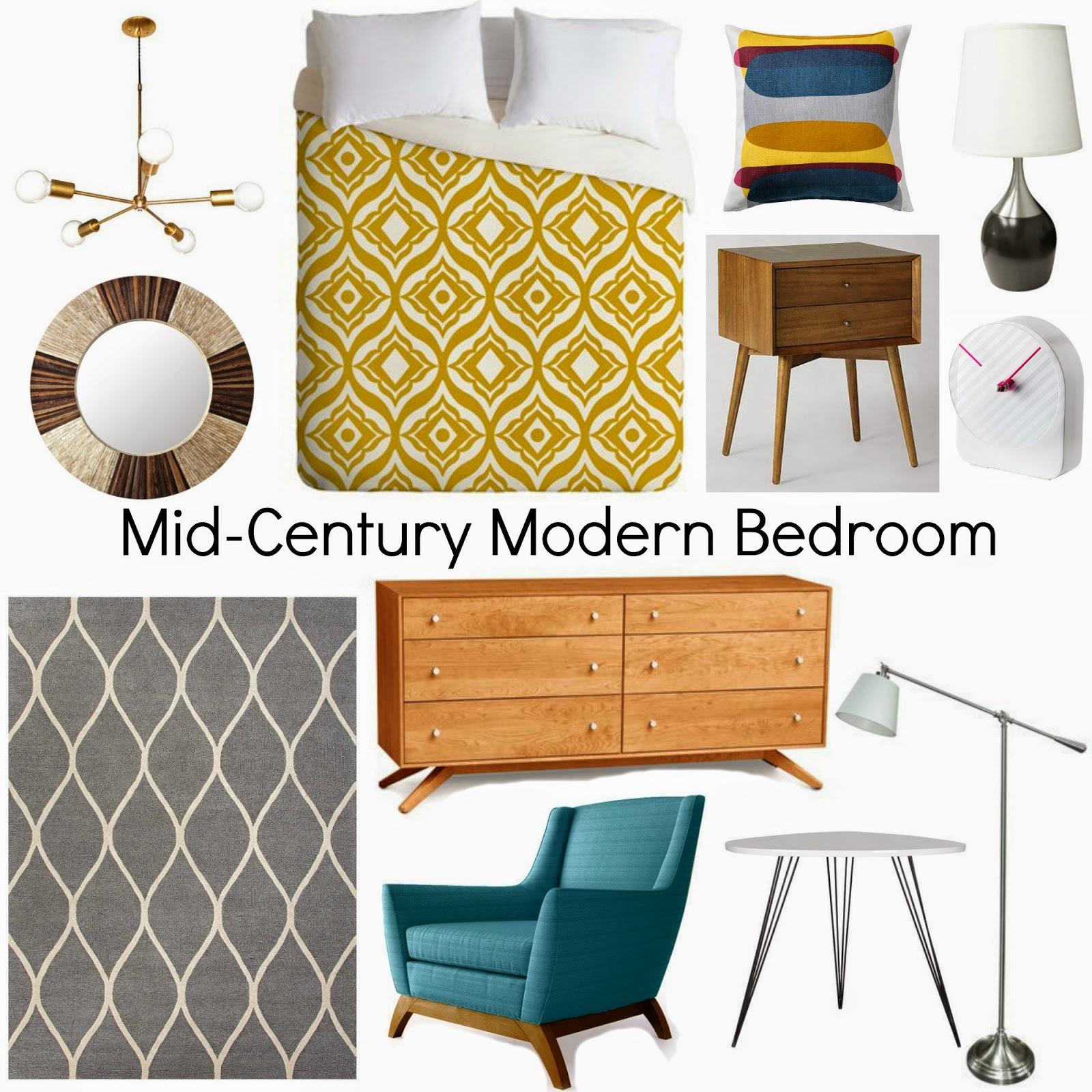 Mid Century Modern Bedroom: Decorating Cents: Mid-Century Modern Bedroom