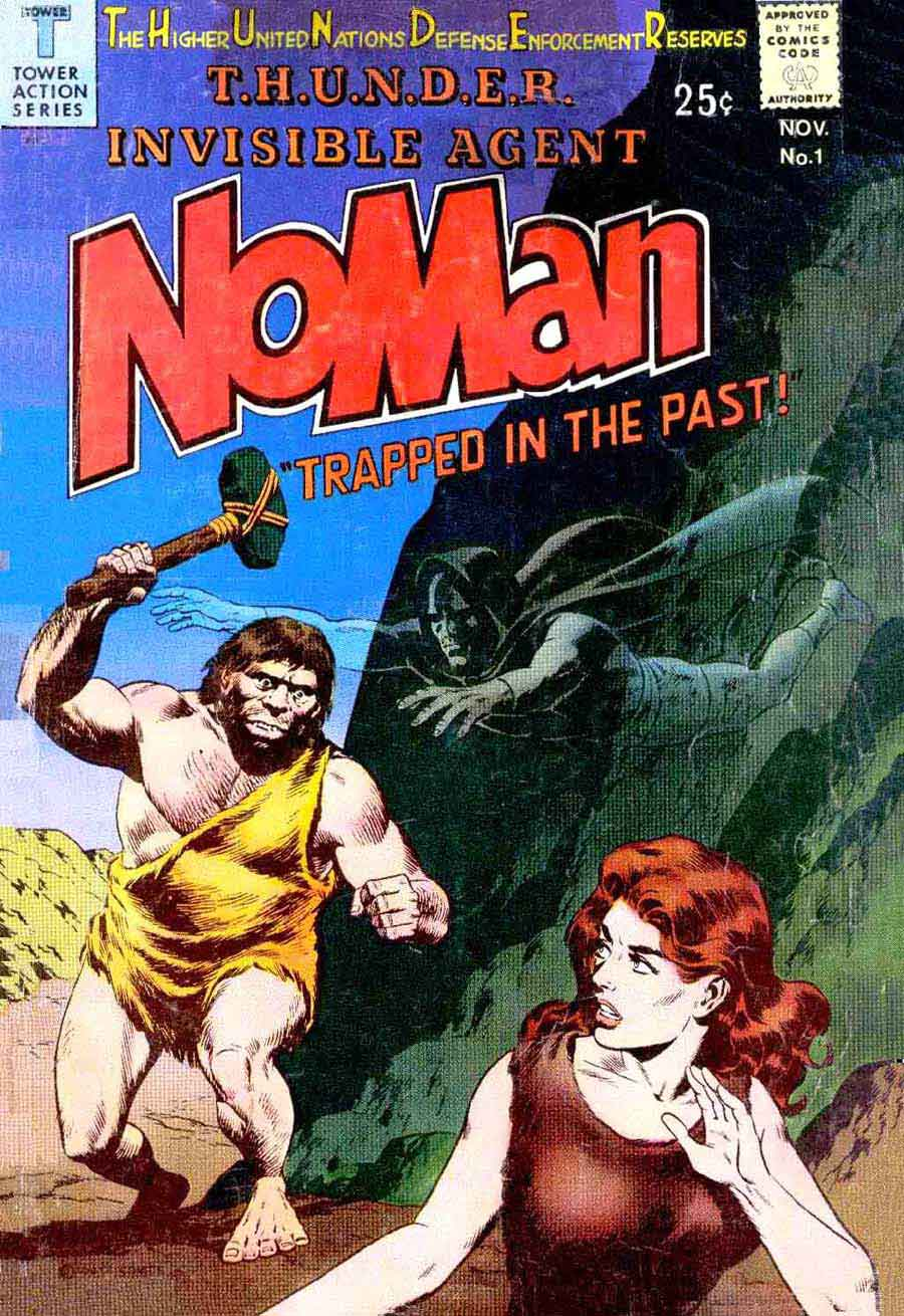 Noman v1 #1 - Al Williamson / Wally Wood tower silver age 1960s comic book cover art