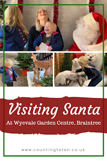 Visiting Santa with children at Braintree Essex