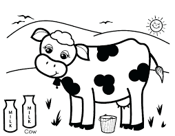 Printable Cow Coloring Pages For Kids On Farm