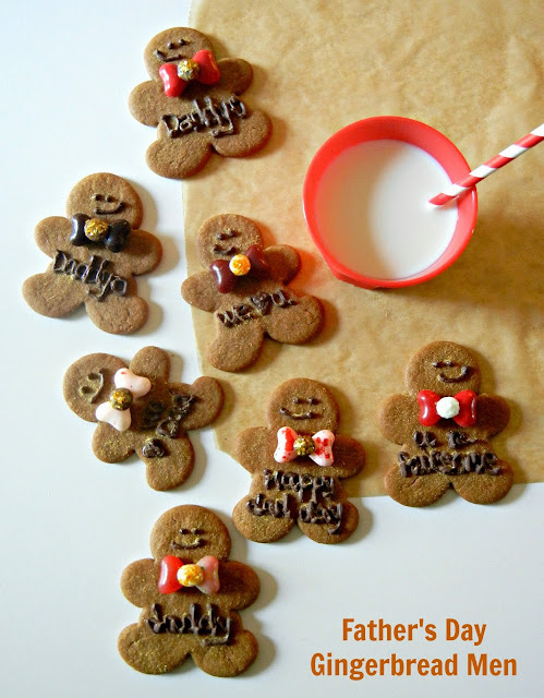 Father's Day gingerbread men cookies
