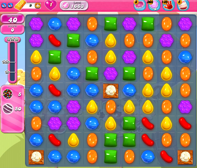 Candy Crush Saga 1663