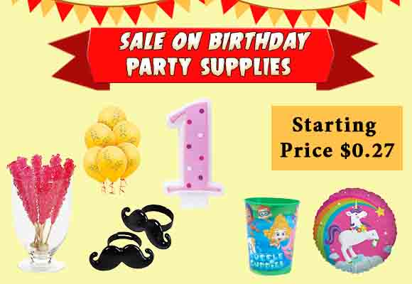 Birthday Party Supplies Discounts