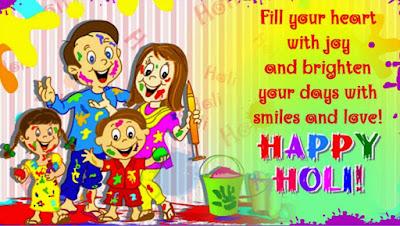 Holi Image with Family