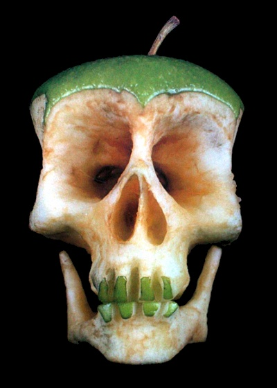 Green Apple Skull by Dimitri Tsykalov - An apple a day keeps the doctor away