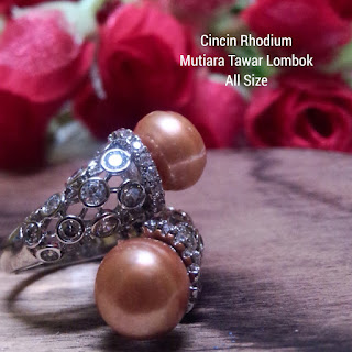 Supplier Mutiara Lombok Cincin Rhodium Sekarbela