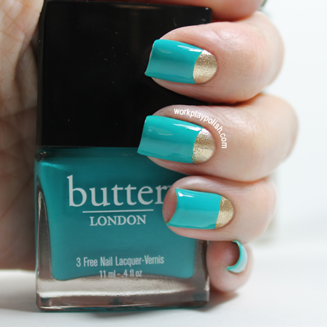 Butter London Slapper Half Moon Mani