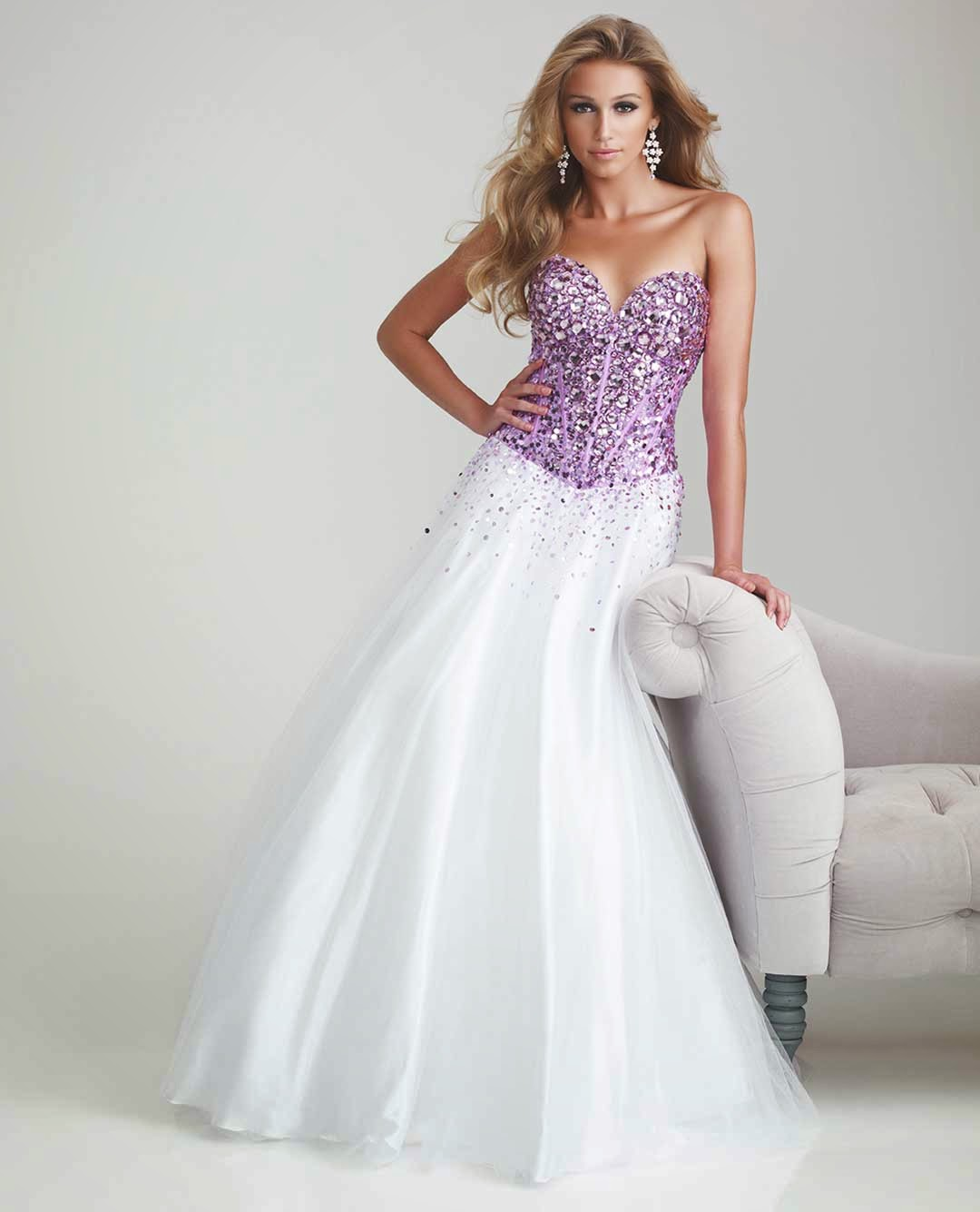 Wedding Dress Ideas: Purple And White Wedding Dresses Concepts Ideas