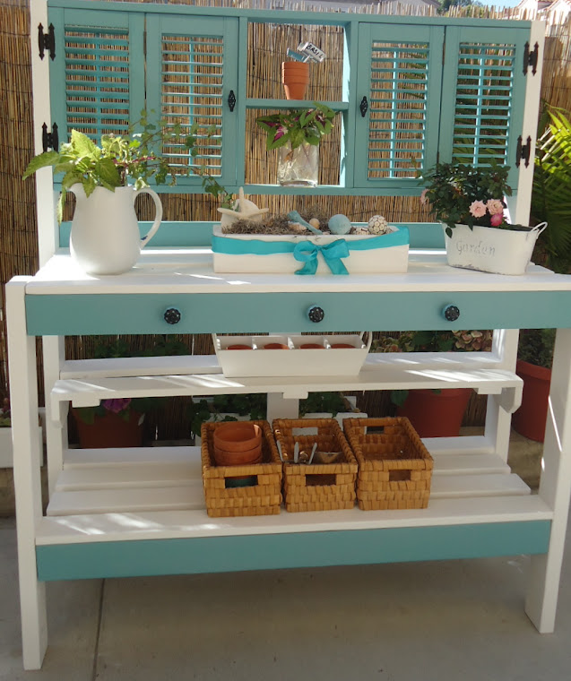 Vintage Shutter Table - SOLD