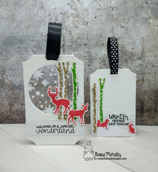 Walking in a Winter Wonderland by Diane features Serene Silhouettes by Newton's Nook Designs; #newtonsnook