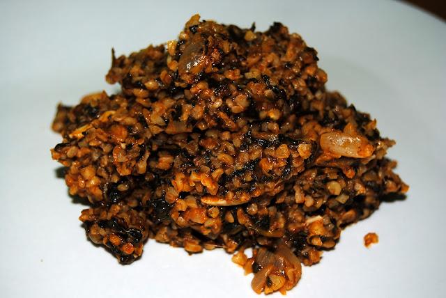 Bulgur con Espinacas (Bulgurlu Spinak). Receta