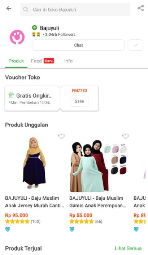 Bajuyuli Toko Baju Muslim Anak Terlaris di Tokopedia