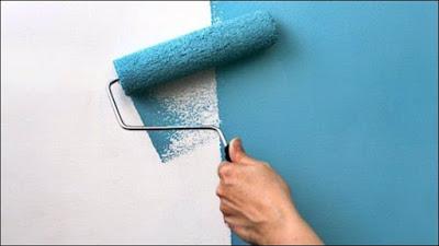 pintura de parede com rolo