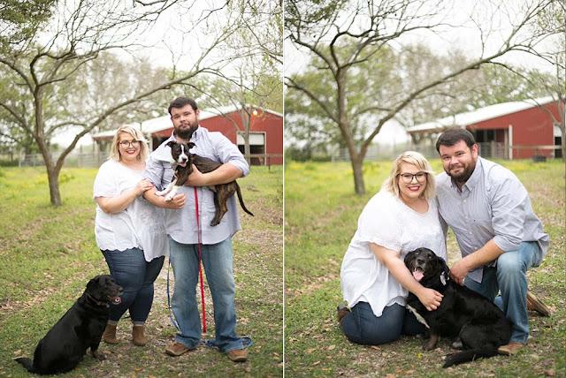Texas Wedding Photographer, Houston Photographer, Engagement Photos, Engagement Posing Ideas with dogs