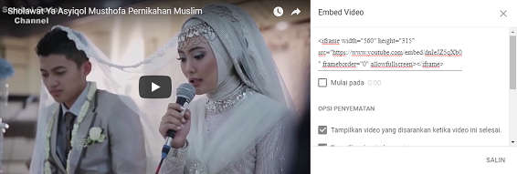 Memasang video youtube responsive di blog