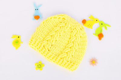 1 - Majovel Crochet Gantillo Imagen Hermoso gorro a crochet juego con la capita amarilla