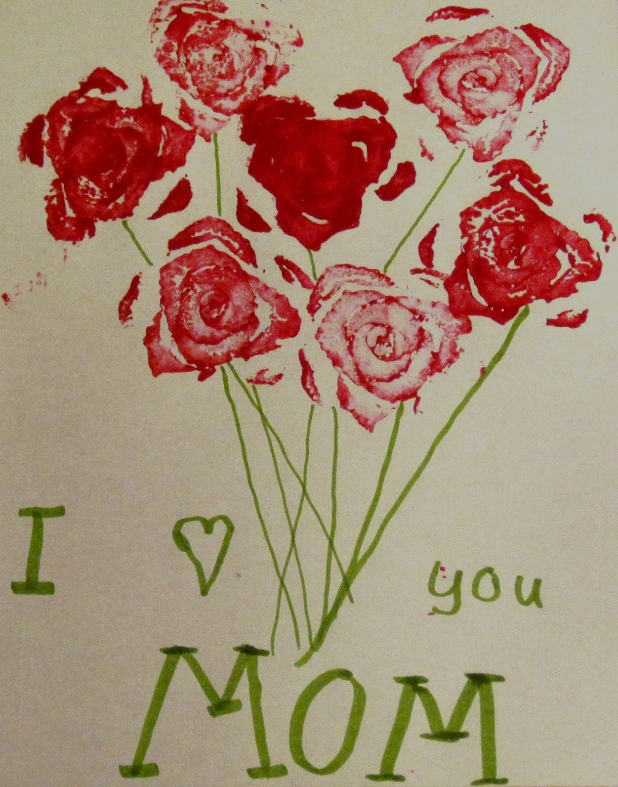 Preschool Crafts For Kids Mother S Day Celery Stamp Rose Bouquet Craft
