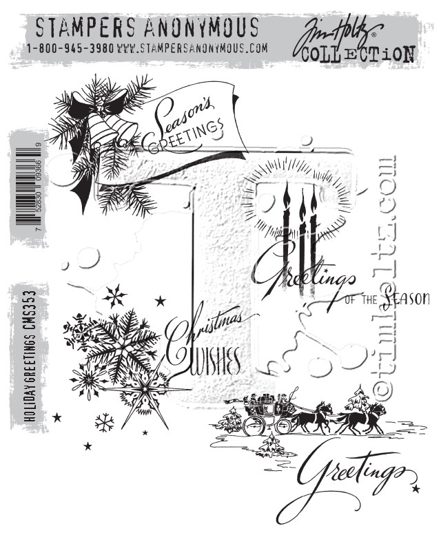 Stampers Anonymous CMS354 ClingStamp TH WinterWatercolor None