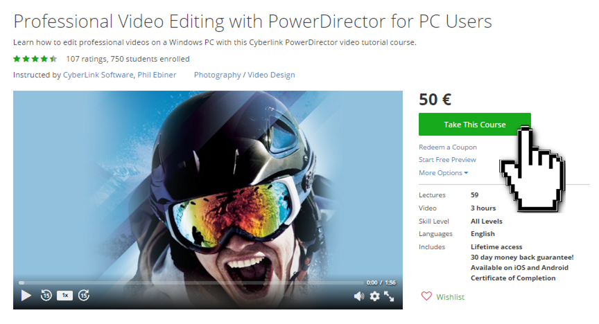 Video Eduiting Course for PowerDirector