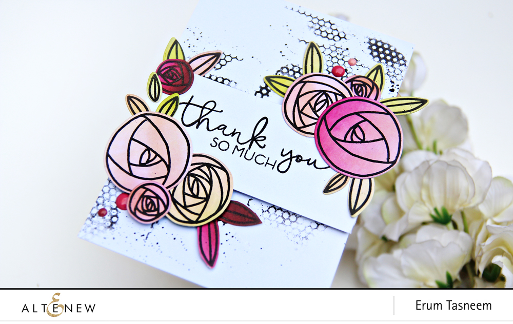 Altenew Rennie Rose Stamp Set | Erum Tasneem | @pr0digy0