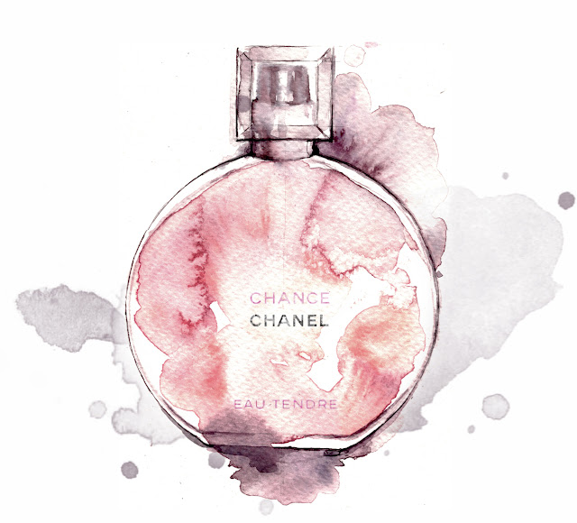 Chanel Chance Eau Tendre perfume - Alessia Landi fashion illustration