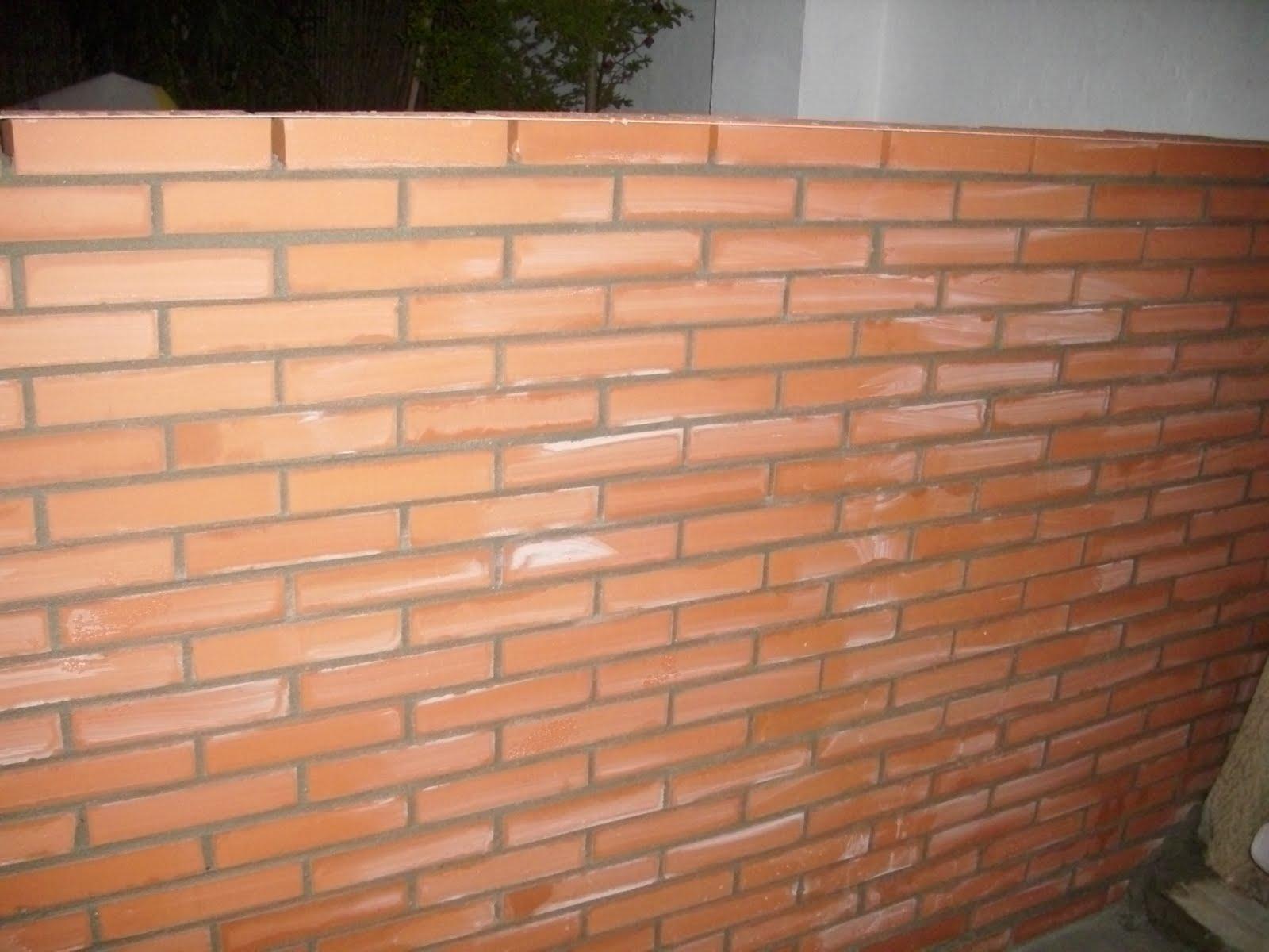 Reformas nervion realizacion de muro ladrillo visto - Ladrillo visto precio ...