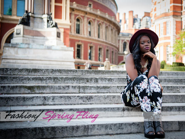 FASHION| SPRING TIME FLING FEATURING SELECT FASHION FLORAL JUMPSUIT AND FLOPPY HAT