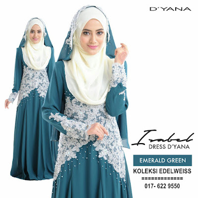 DRESS PENGANTIN MUSLIMAH  EMERALD GREEN