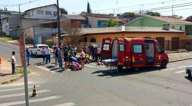 Acidente grave entre moto e carro no Maracanã