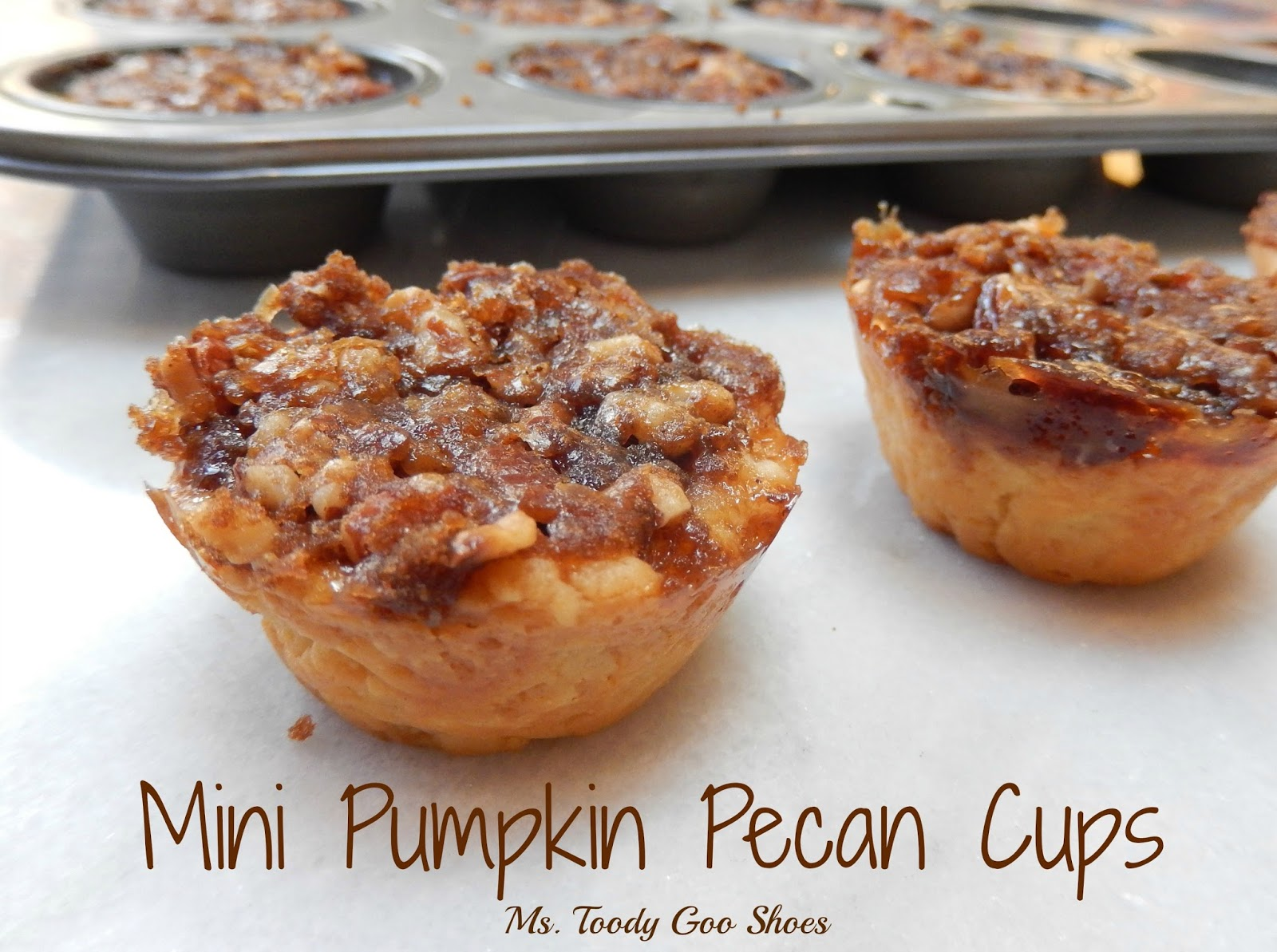 Mini Pumpkin Pecan Cups  by Ms. Toody Goo Shoes