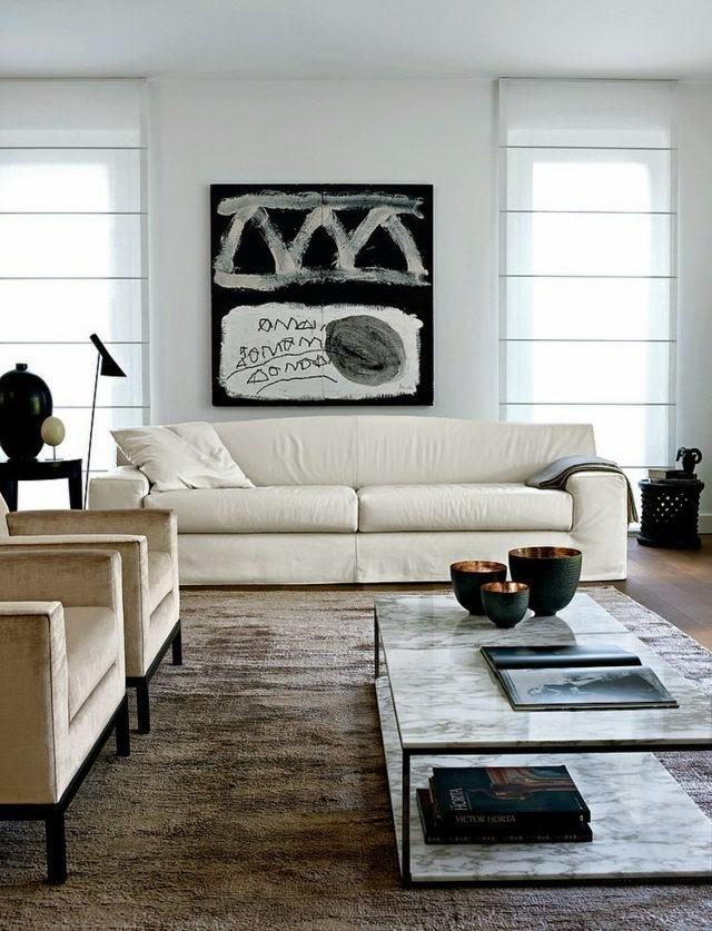 Comfortable modern living room design ideas in neutral ...