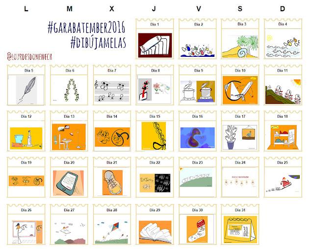 Lourdes comparió #Garabatember2016 en su blog.
