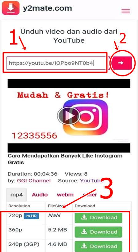 cara download yotutube lewat hp
