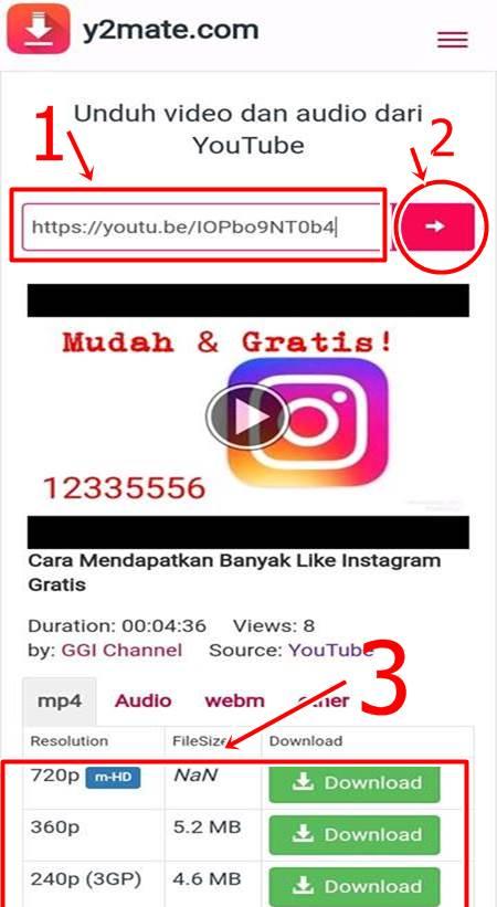 cara download yotutube lewat hp