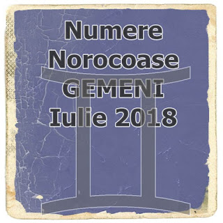Horoscop Numere Norocoase GEMENI Iulie 2018